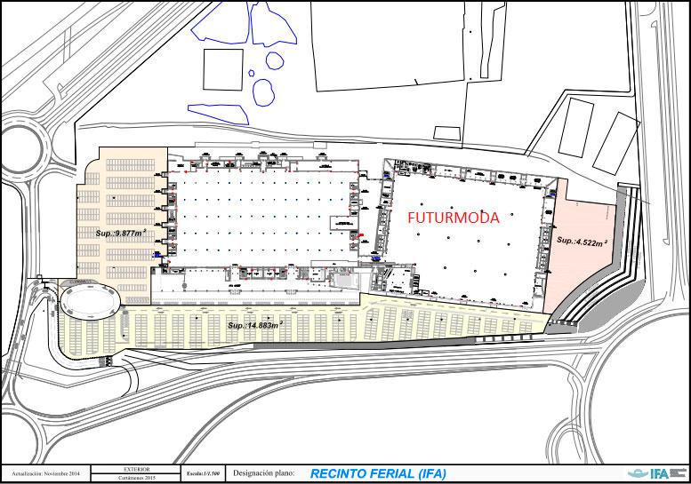 Plano de  IFA donde celebra Futurmoda